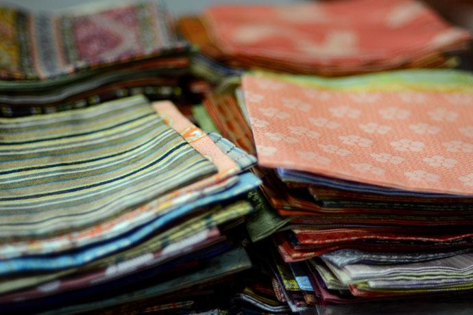 Kitamura Tokusai makes over 400 designs of fukusa